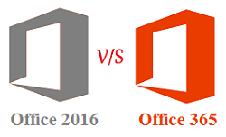 Office 365 vs Office 2016
