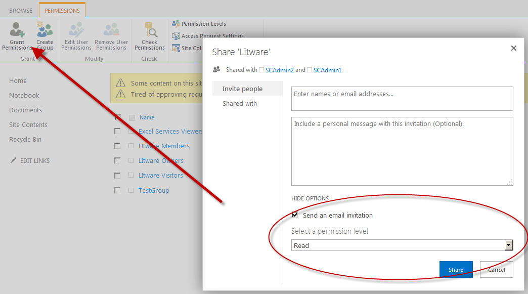 Share Sharepoint Site With External Users