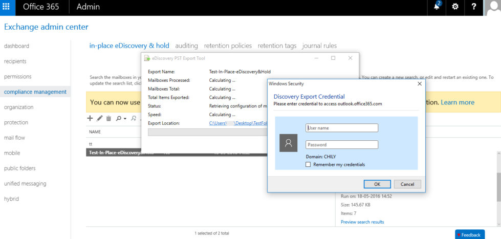 Step 8 to Export Office 365 Mailboxes to PST