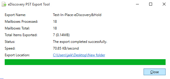 Step 9 to Export Office 365 to PST