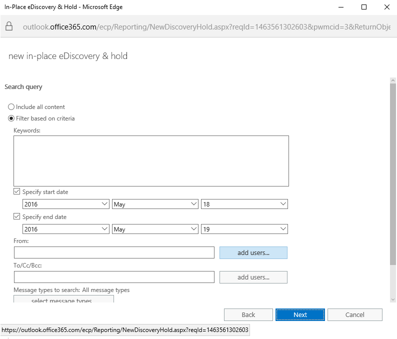 Step 4 to Export Mailboxes from Office 365 to PST