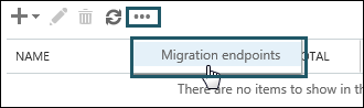 Migration endpoints