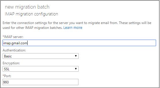 migration configuration