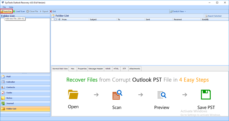 how to recover lost data in outlook