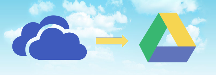 to move things from onedrive to google drive