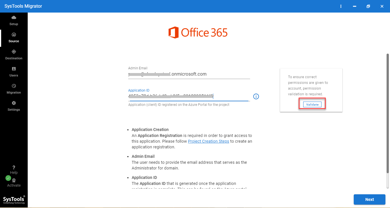 o365 credentials