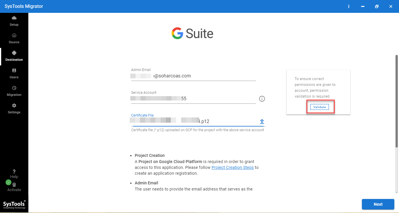 g suite credentials