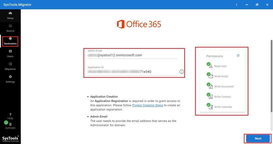 apply office 365 settings