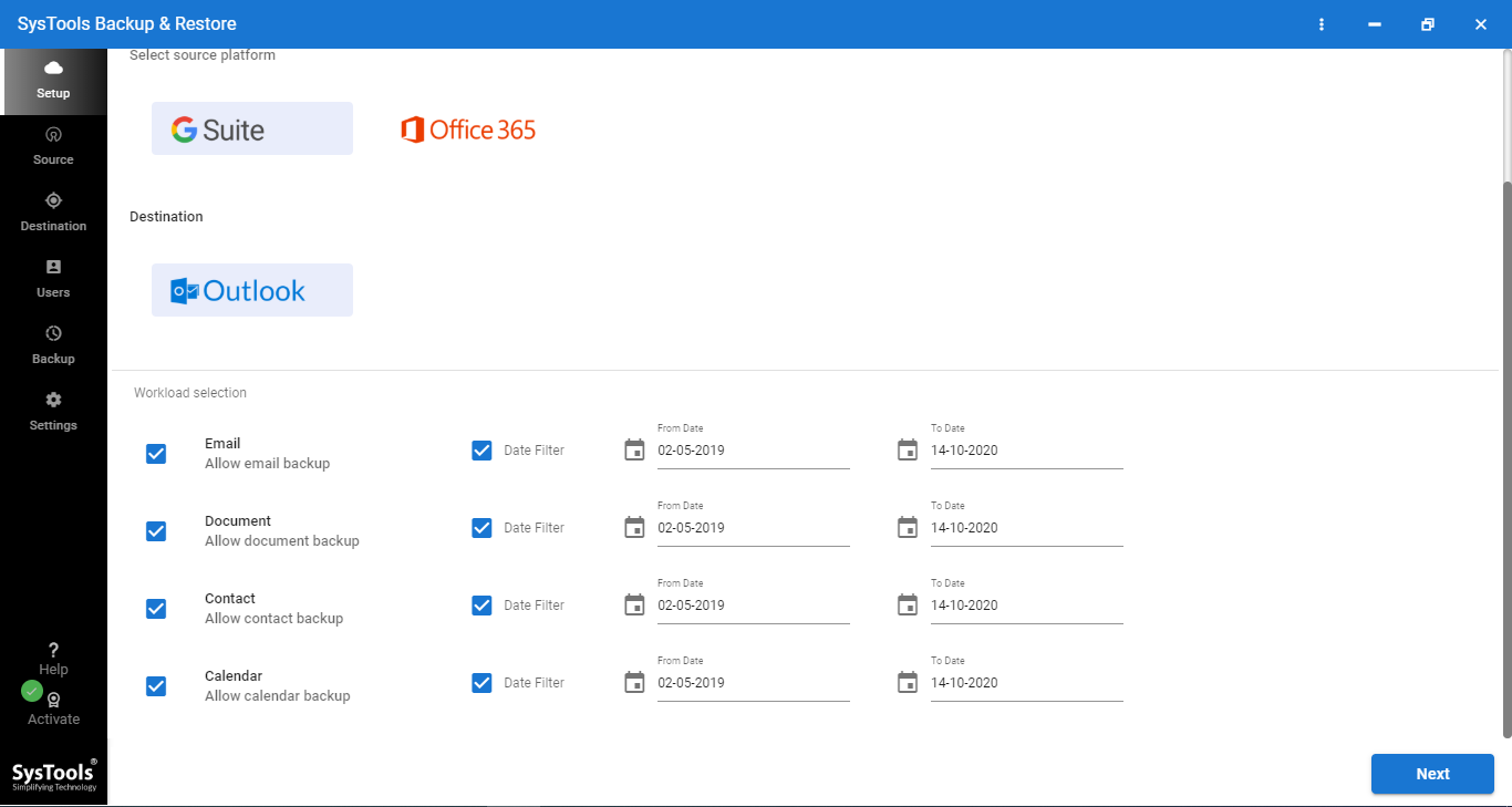 interface google email to outlook